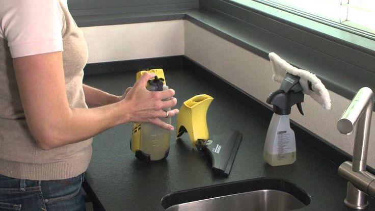 Skinande rent - utan ränder Få fina och rena fönster utan ansträngning och spara samtidigt tid. Kärcher fönstertvätt suger upp vatten från rutan utan att dro...