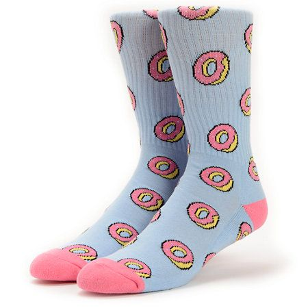 Satisfy your hunger for some ultra fresh footwear with the Odd Future Donut Allover Blue crew socks.