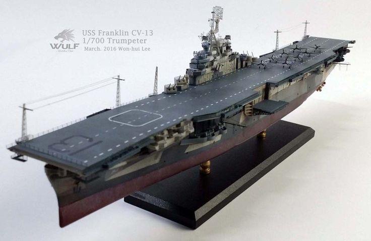 1/350 USS Franklin CV-13 (Trumpeter) | Model Ship Gallery ...