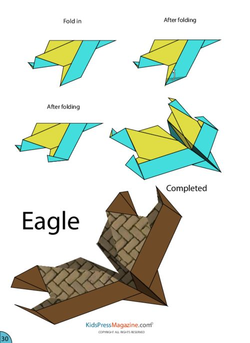 Paper Airplane Instructions – Eagle  #advanced #paper #plane #printable #template