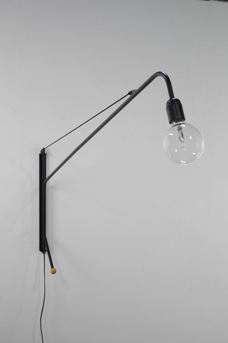 Lampe potence design JAG noir esprit vintage industriel moderniste