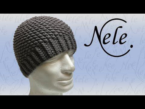 Mütze stricken - einfache Strickmütze im Perlmuster - DIY Anleitung by Nele C. - YouTube