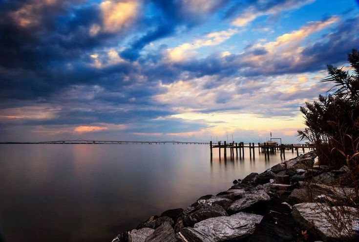 The calm of the Chesapeake from Kent Island right before a storm rolls in, late October 2014. Photo by Krystle Chick.
