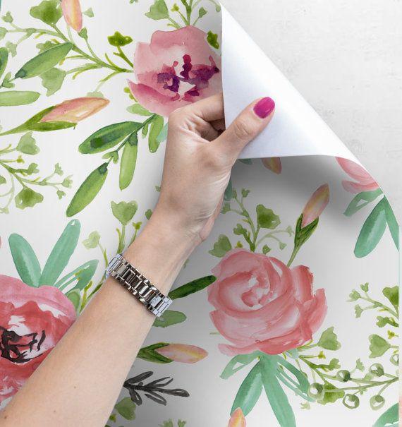 Spring Garden Flowers Removable Wallpaper Peel And Stick Etsy Spring Garden Flowers Spring Garden Wall Murals