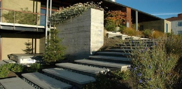Exterior Floating Stairs