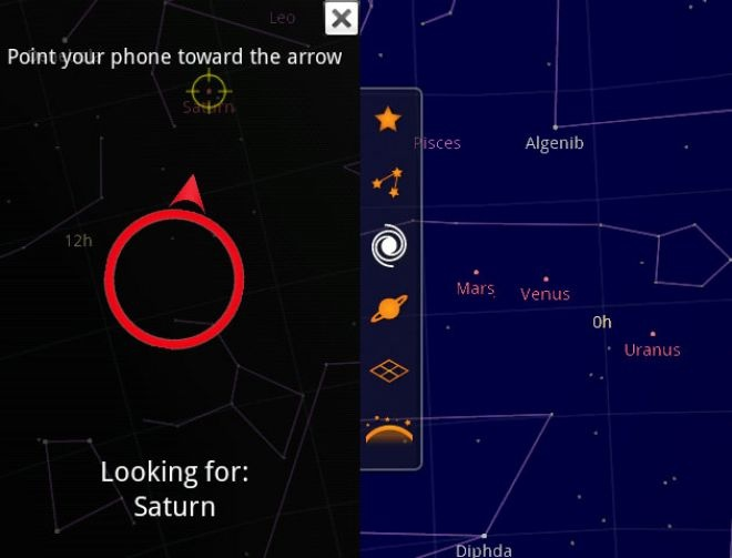 Sky Map app from Google is frankly just really awesome.