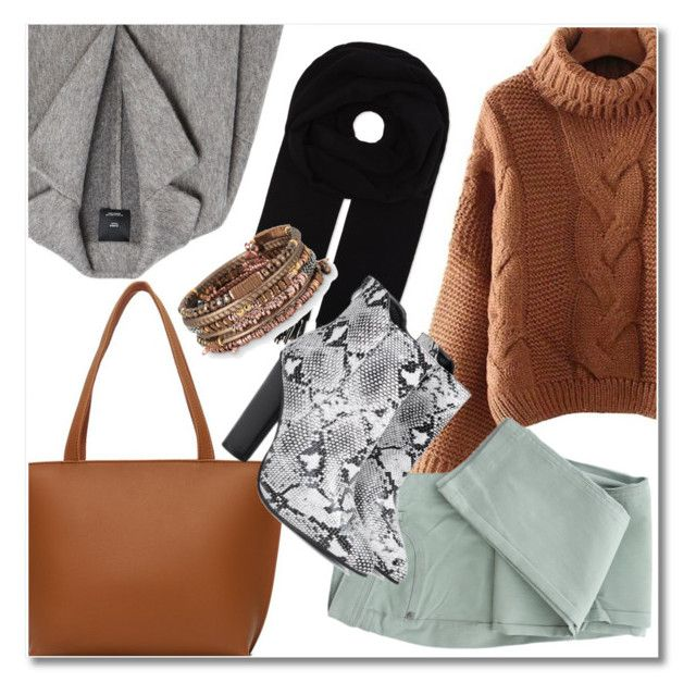 Sweater weather by laurafox27 on Polyvore featuring polyvore fashion style MANGO Stella & Dot Canada Goose clothing