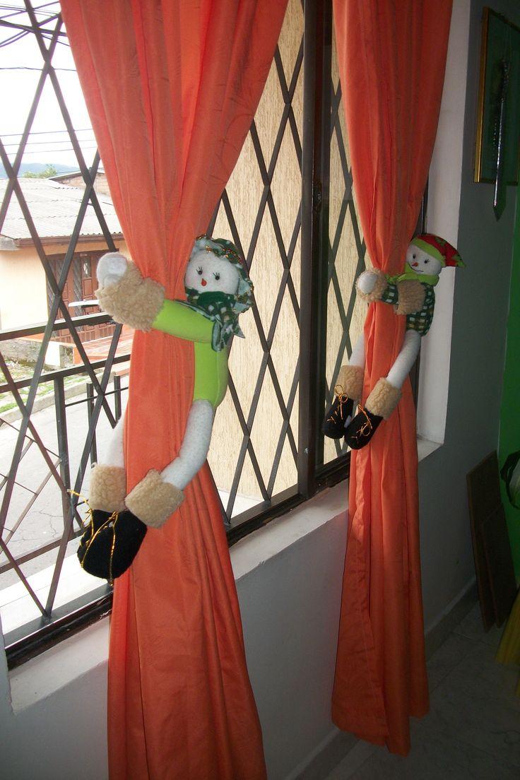 Agarradores de cortinas navideños