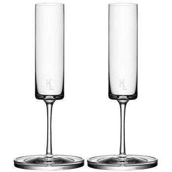 I am in Love with Karl Lagerfeld's collection for Orrefors--- Champagne Flute Set: Flutes Sets, Champagne Flutes