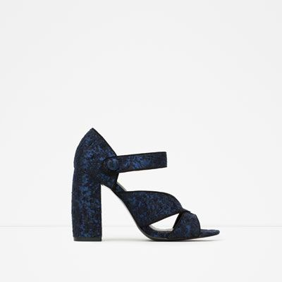 BLOCK HEEL SANDALS from Zara | vegan shoes | vegan heels