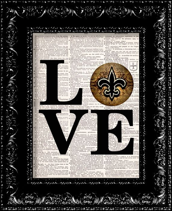 New Orleans Saints NOLA LOVE NFL Football