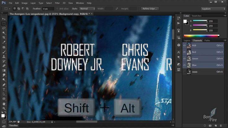 Photoshop tutorialok - Feliratok kiretusálása I.