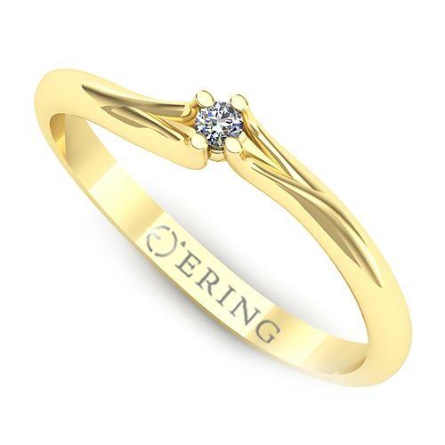 Inel logodna L02GDI Inel cu diamant