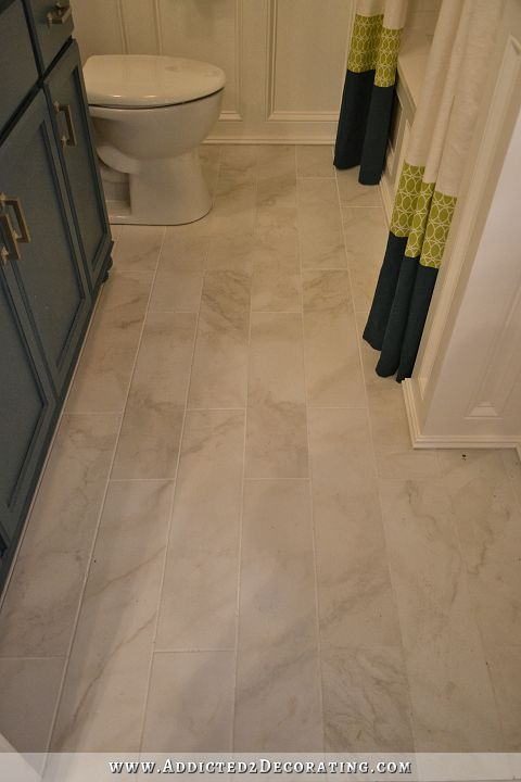 DIY Bathroom Remodel   Before U0026 After Like The Floor Tile. Blogger Said Home  Depot