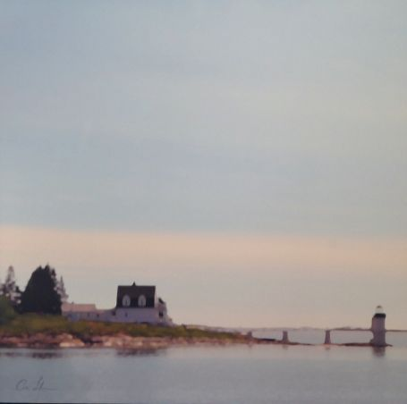 Port Clyde: modern, landscape, photo journalism, photograph, archival ink jet on canvas, by photographer Carrie Lonsdale, measuring 36 x 36 inches
