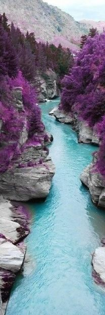 <3 The Fairy Pools on the Isle of Skye, Scotland.  Not sure if it is real, but beautiful none the less.