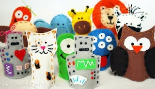 The Creativity Clinic: Sew Easy Felt Finger Puppets