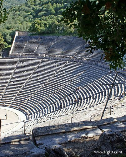 The Epidaurus Theater, an architectural masterpiece of the 4th century BC, Peloponnese - Greece