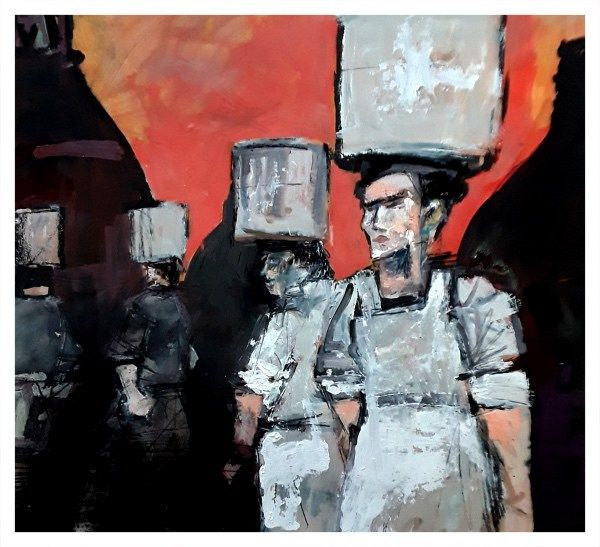 Potbank Labour: Carrying Saggars I by Ian Pearsall
