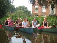 Kanoën tijdens de Ruige route op het Hogeland