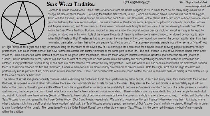 seax wicca Basics