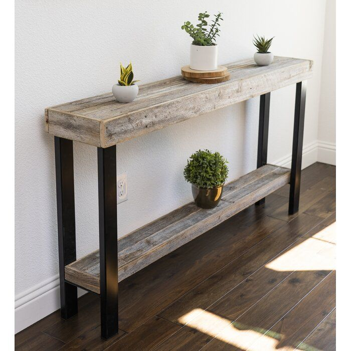 Moonya Solid Wood Console Table In 2020 Rustic Console Tables Console Table Decorating Wood Console Table