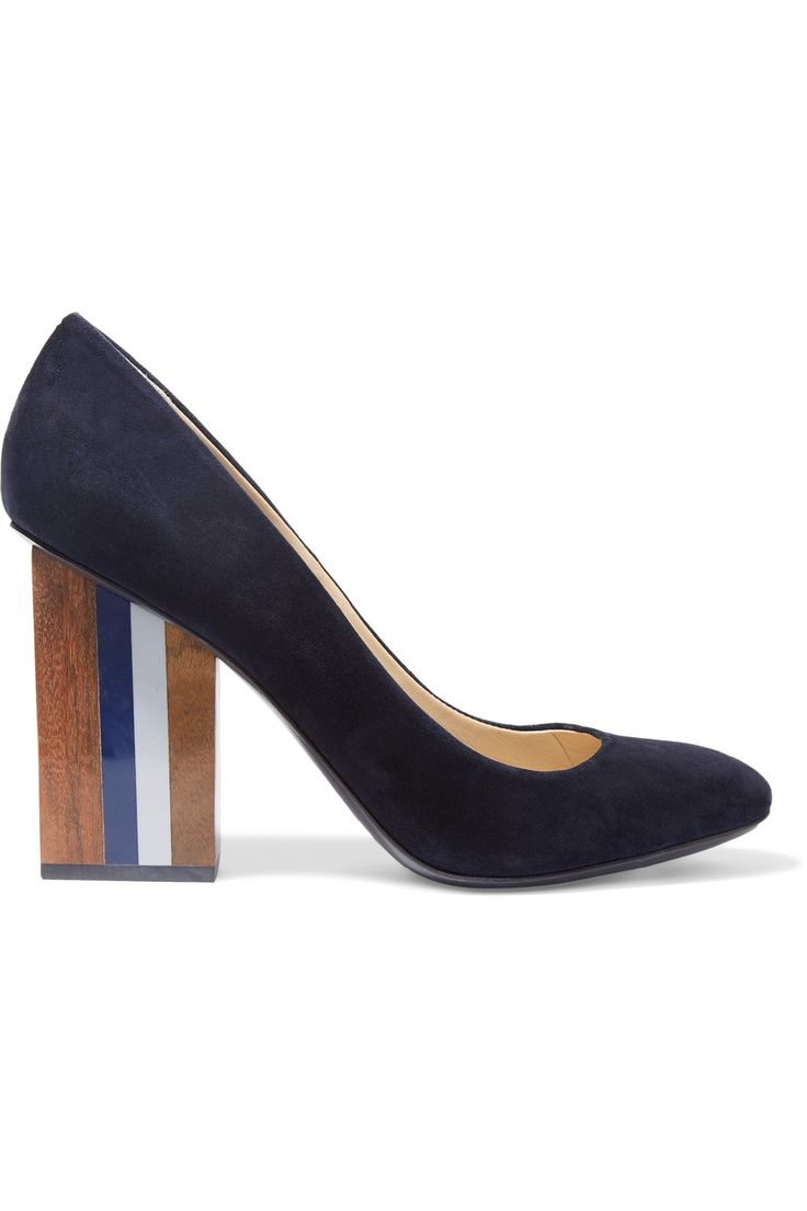 Shop on-sale Tory Burch Paris suede pumps . Browse other discount designer Pumps & more on The Most Fashionable Fashion Outlet, THE OUTNET.COM