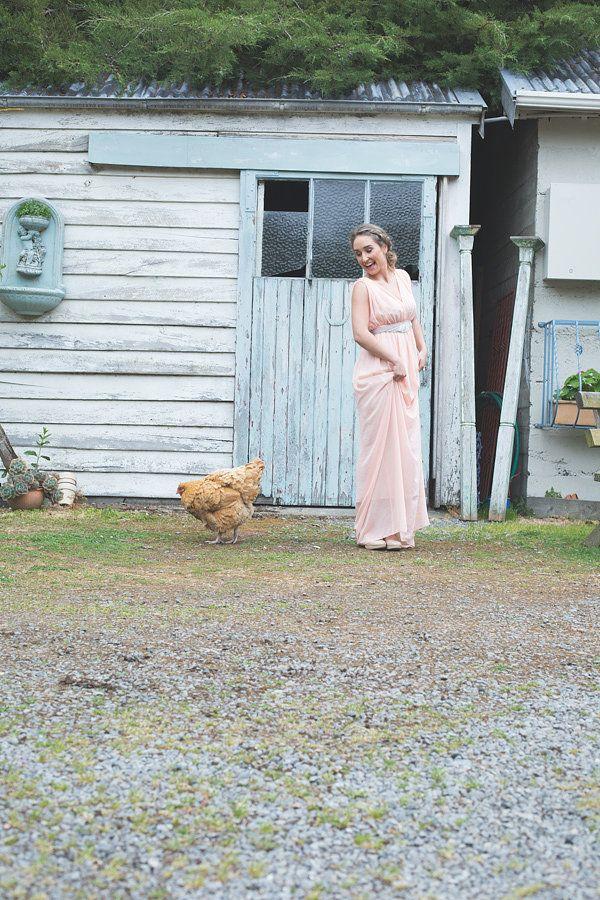 ViCTOR Bridesmaid - Style DONNA chiffon dress & Embellished Belt