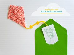 Kite party invitations and Ideas for planning, organizing and decorating babies, kids and adults parties