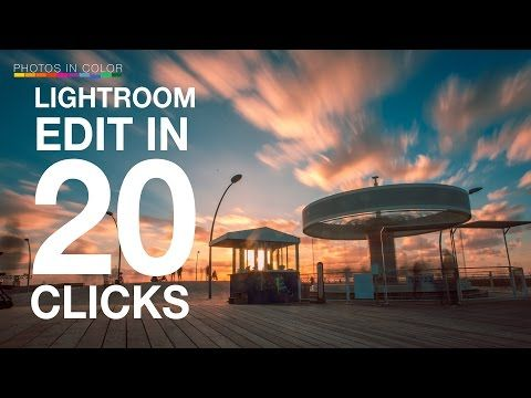 LIGHTROOM Editing in ONLY 20 Clicks - The Power Of Lightroom Tutorials - YouTube