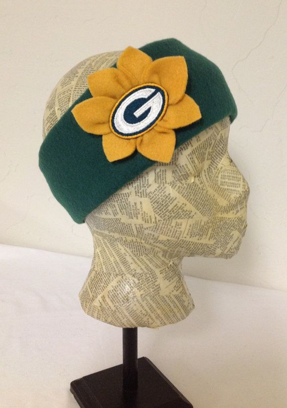 For our girls :) Green Bay Packers Fleece Head Band  Womens by MelloGalleria, $15.00