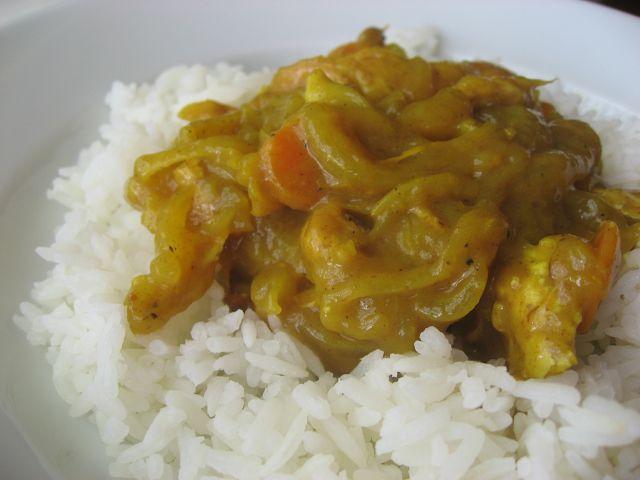 Curry de pollo con papayas confitadas | En mi cocina hoy