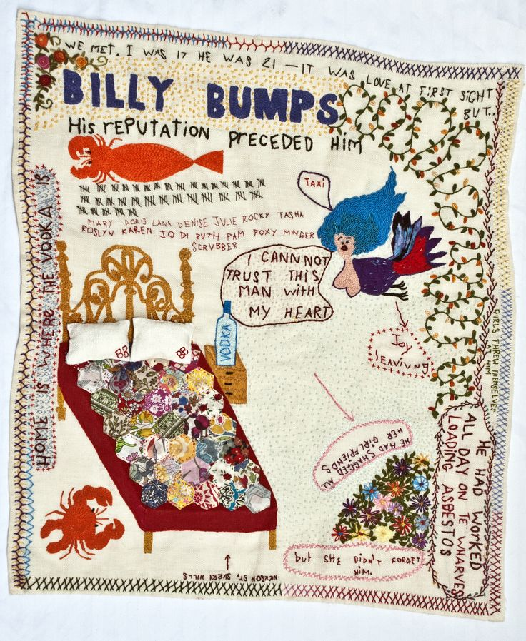 Joy Ivill - Billy Bumps series of embroideries