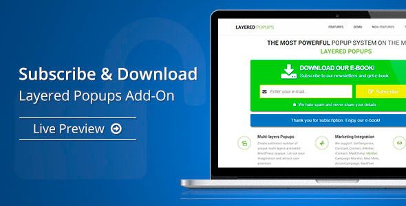 Subscribe & Download - Layered Popups Add-On | Best Premium