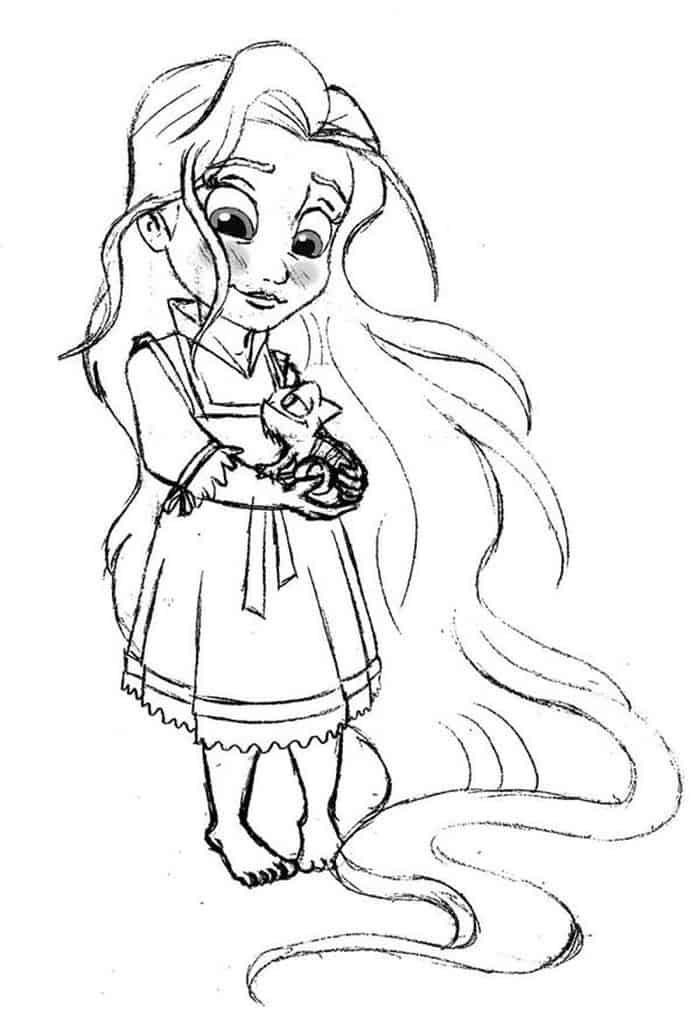 Baby Rapunzel Coloring Pages Rapunzel Coloring Pages Princess Coloring Pages Disney Princess Coloring Pages