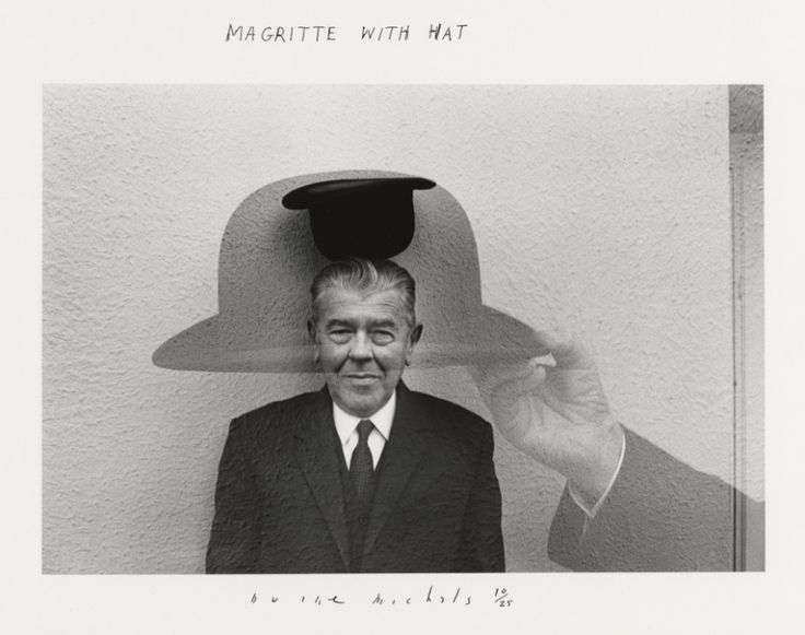 Duane Michals, Magritte with Hat, 1965