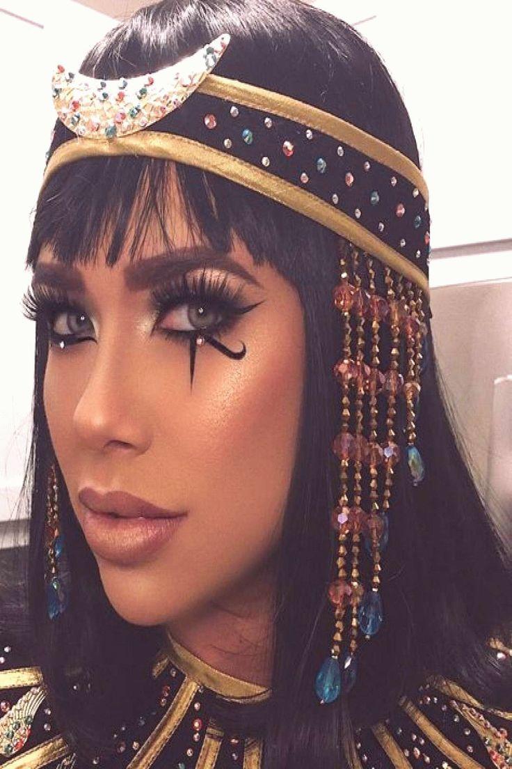 Cleopatrainspired Halloween makeup em 2020 Fantasias de