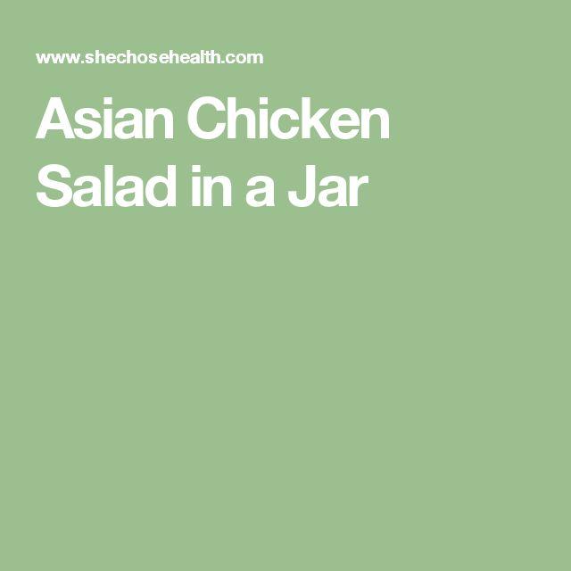Asian Chicken Salad in a Jar