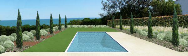 Residential Garden   Algarve - Landscape project by Silvia Sacramento, via Behance