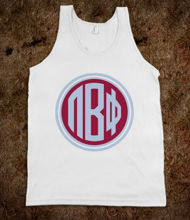 Pi Beta Phi Frat Tanks - Pi Beta Phi Monogram Frat Tanks
