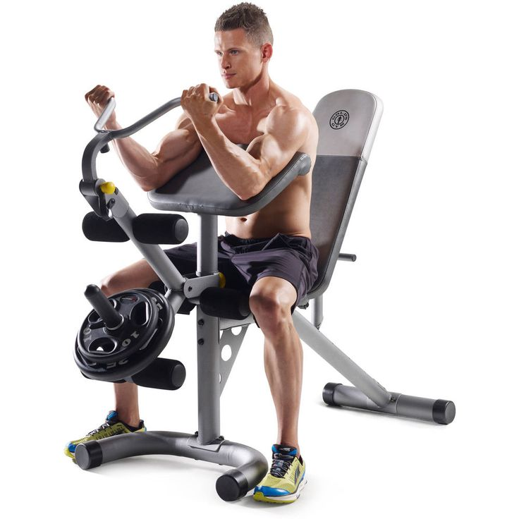 Best Cheap Weight Bench Part - 35: Goldu0027s Gym XRS 20 Olympic Workout Bench #GoldsGym