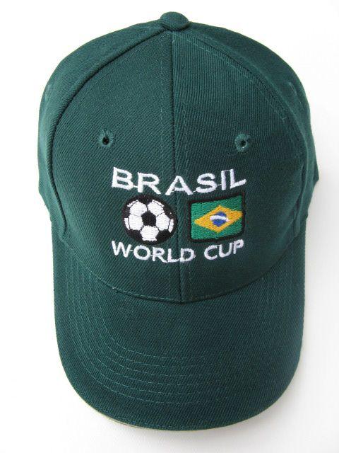 BRASIL BRAZIL WORLD SOCCER CUP ALL SPORTS BASEBALL CAP