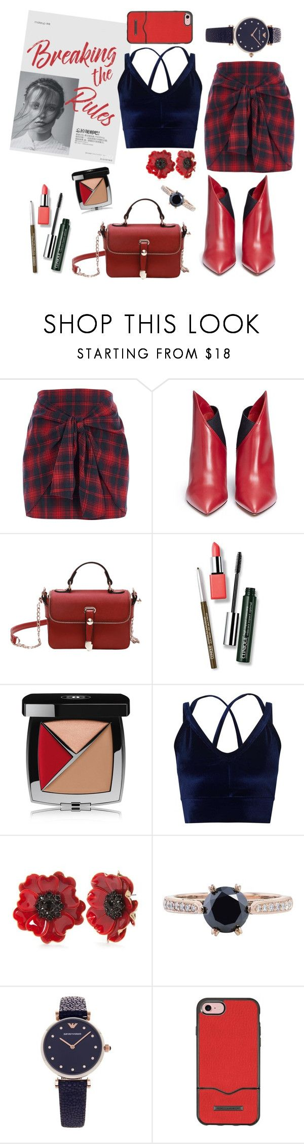 """Untitled #330"" by inesgenebra on Polyvore featuring River Island, Valentino, Clinique, Chanel, Miss Selfridge, Kate Spade, H&H, Emporio Armani and Rebecca Minkoff"