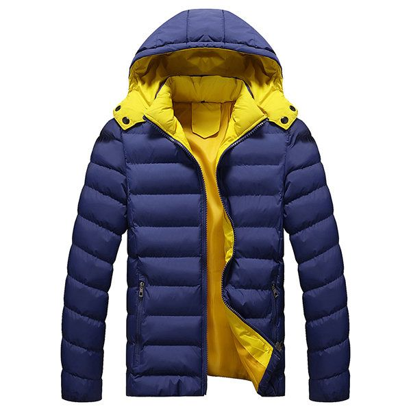 $29.89 Winter Outdoor Waterproof Thicken Warm Hooded Padded Jacket For Men - Newchic