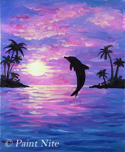 Pin by jillian Cervelli on Dolphin Joy in 2019  Painting Watercolor art Acrylic art