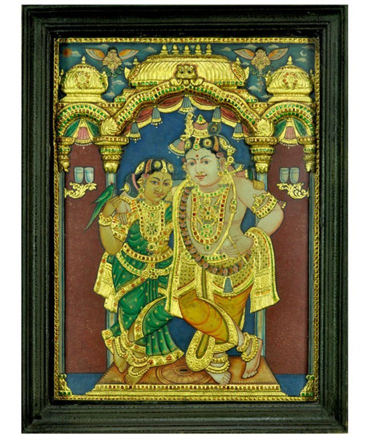 Product DetailsProduct Theme : Hindu DevotionalProduct Dimensions : 20W X 26H InchesFrame : WoodImage Style : ThanjavurDescription…