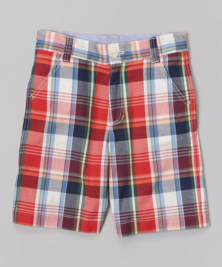 Nantucket Red Plaid Shorts - Toddler & Boys
