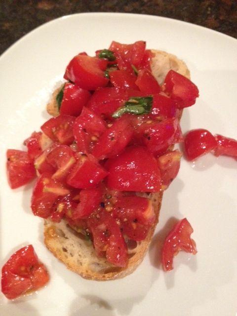 Vine tomato bruscetta
