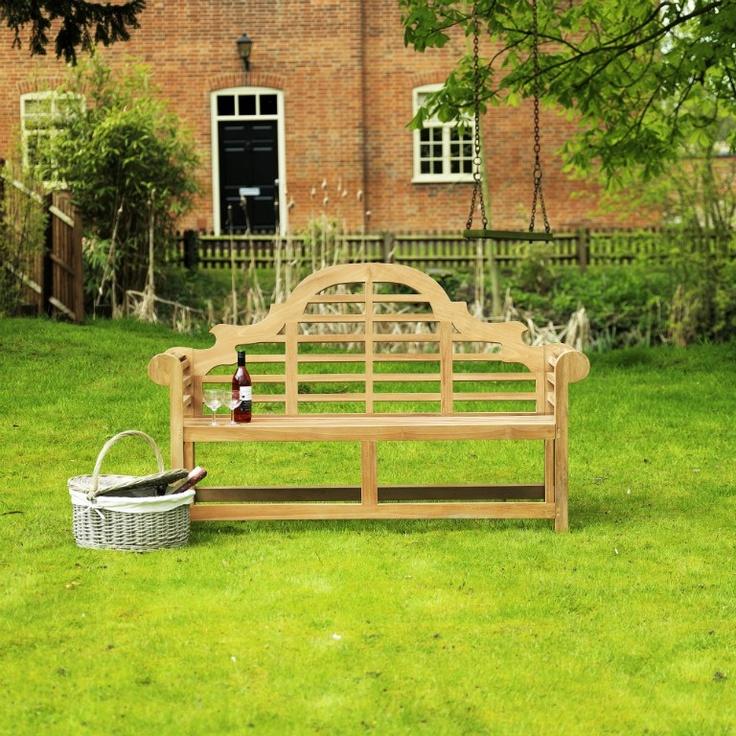 Que agradable poder disfrutar de tu jardín en un banco como este!  Banco de teca .  Indonesia.  Lutyens Teak Garden Furniture Bench 1.5m  GALPON71