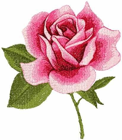 Red rose photo stitch free machine embroidery design - Photo stitch embroidery designs - Machine embroidery community